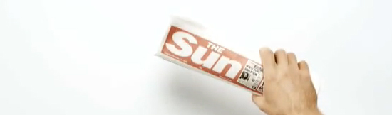 The sun mock the iPhone with spoof ad!